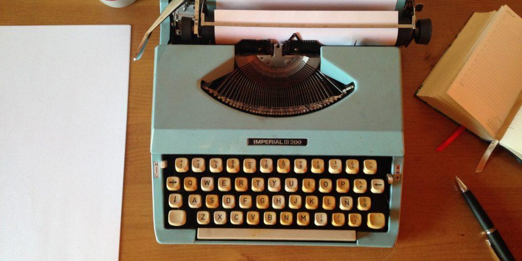 typewriter on desk